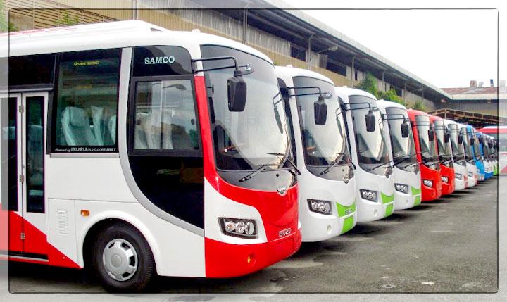 xe 29 samco 1 - Những câu hỏi thường xẩy ra khi đi thuê xe du lịch 29 chỗ