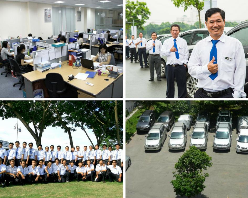 Đội ngũ nhân viên tư vấn và lái xe của Việt Anh